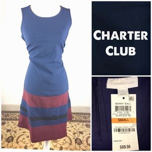 Charter Club Blue Sleeveless A Line Dress Small